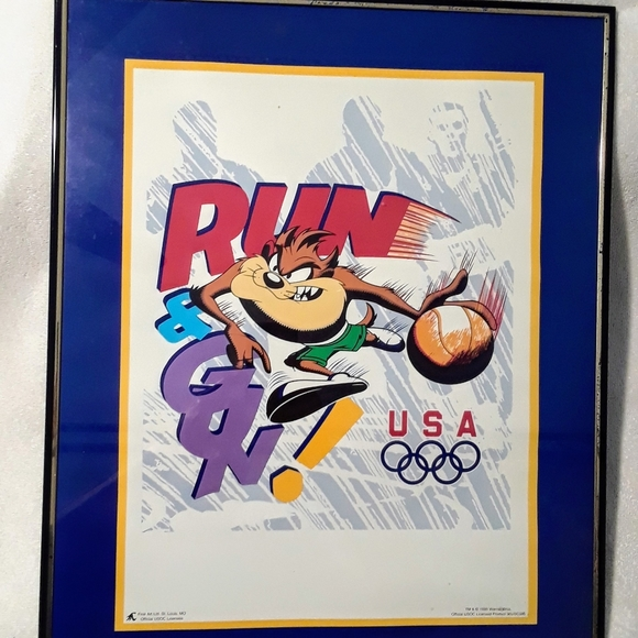 Vintage Looney tunes taz Olympic poster